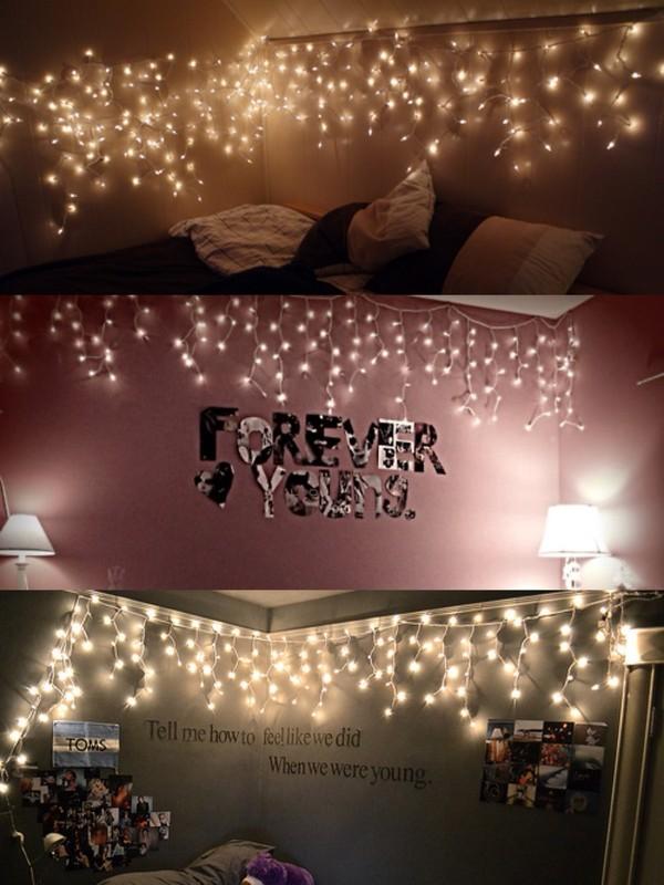 Jewels: fairy lights, lights, hanging, tumblr, bedroom, tumblr ...
