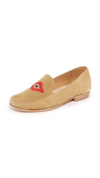 embroidered loafers shoes
