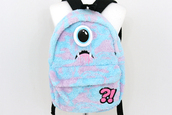 bag,cute,backpack,monsters inc,light blue,purple,korean fashion,korean style,pastel