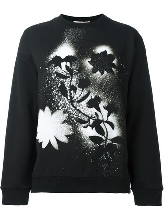 sweatshirt print black sweater