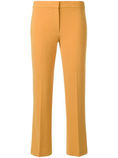 theory cropped women yellow orange pants