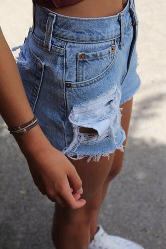 shorts blue shorts ripped shorts denim shorts low waisted clothes blue denim short shorts denim high waisted shorts high waisted jean shorts shorts denim ripped/distressed/destroyed jean shorts cutoff shorts blue jeans vintage ripped jeans high waisted denim shorts