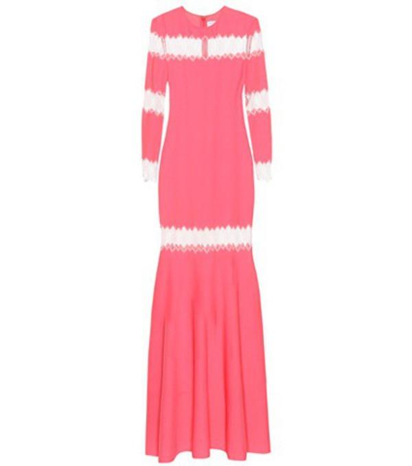 Huishan Zhang Long-sleeved dress in pink