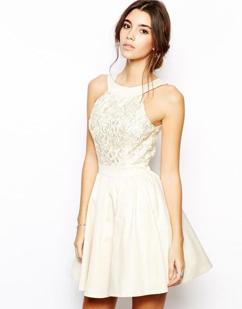 dress, prom dress, mini dress, white dress, nude dress, beige dress ...