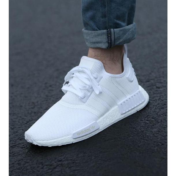 shoes sportpower14 adidas nmd boost triple white. Black Bedroom Furniture Sets. Home Design Ideas