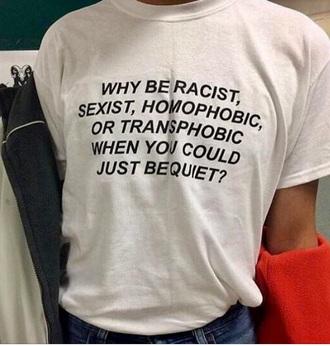 t-shirt tumblr grunge feminist feminism tumblr grunge kawaii kawaii grunge rainbow lgbt shirt white black cute girly cool happy so gay make america gay again