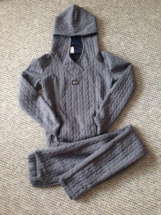 pajamas jumpsuit two-piece set women girly cable knitwear cable knit pretty