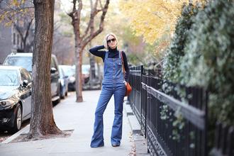 blogger bag the fashion guitar flare dungarees