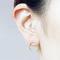 Grunge hollow circle stud earrings