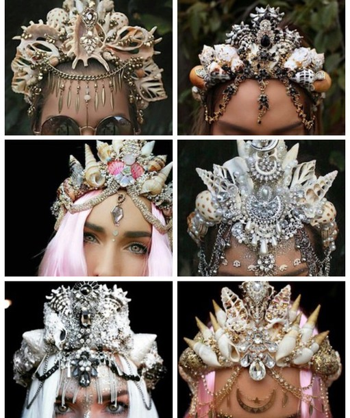 hair accessory crown flower crown jewels jewelry mermaid 6b1b3c08dec