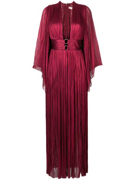 Maria Lucia Hohan dress evening dress women spandex silk red