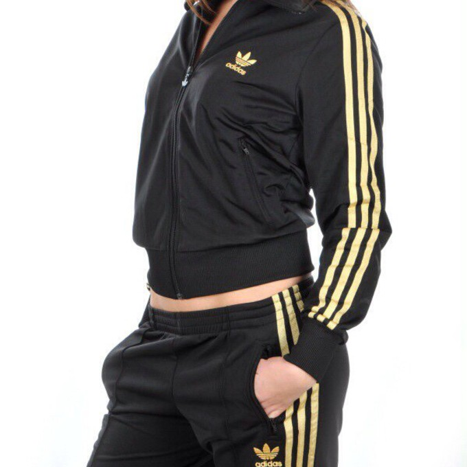 black and gold adidas tracksuit mens