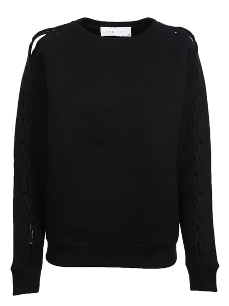 Iro sweatshirt lace black sweater