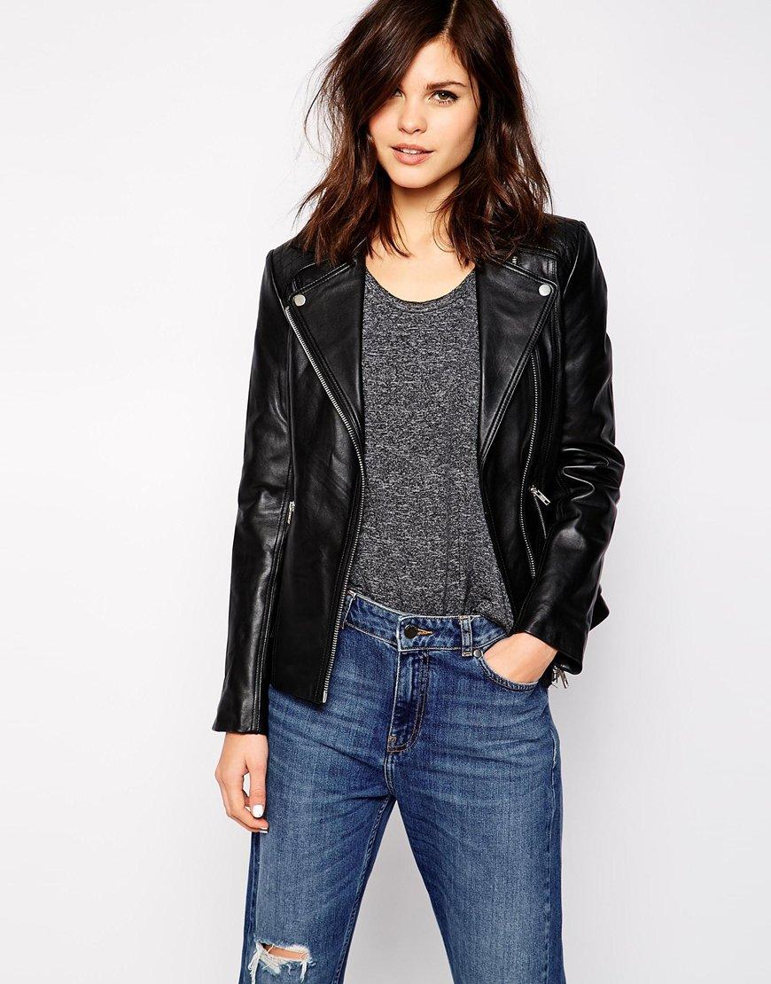 Warehouse leather jacket at asos.com