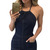 Women Navy Blue Denim Halter Playsuits with Pockets Summer New Lady Club Casual Sleeveless Halter Neck Romper One Piece Overalls-in Rompers from Women's Clothing & Accessories on Aliexpress.com | Alibaba Group
