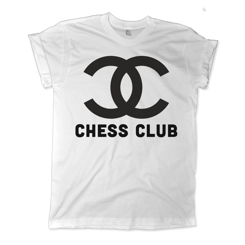 d2aee90a Chanel Chess Club Graphic Womens White T shirt | Mo | Long Tee | Chanel  Tshirt ...