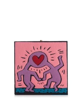 love clutch pink bag