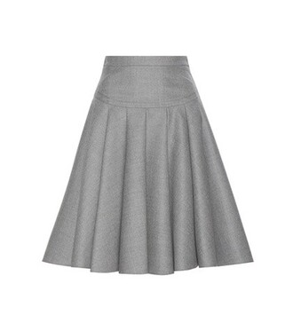 skirt wool grey