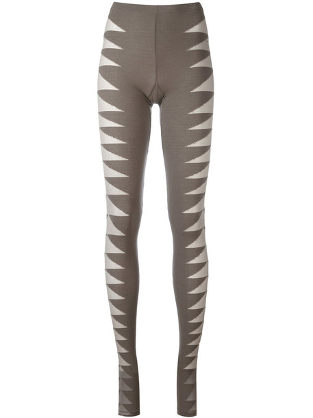 Rick Owens Lilies leggings mesh women spandex green pants