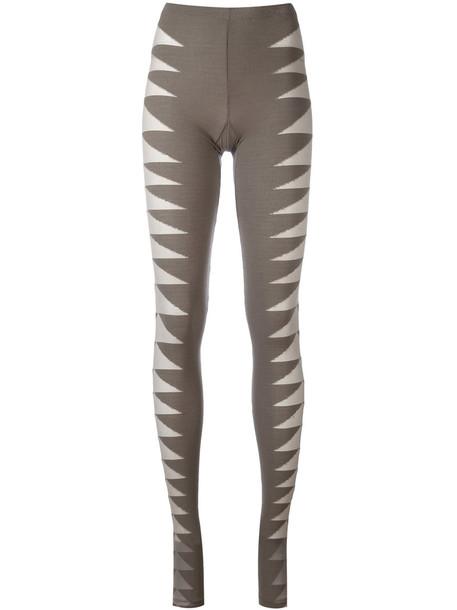 leggings mesh women spandex green pants