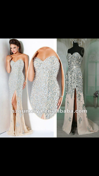dress sparkle dress rhinestones sparkle beaded sequins prom prom shoes high heels wedges