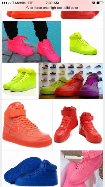 the best attitude c9736 43084 ... promo code for shoes color pack nike red nike air force 1 solid color  pink blue