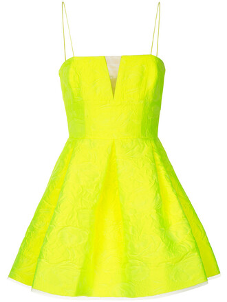 dress mini dress mini women floral yellow orange