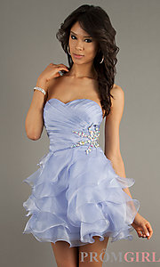 Strapless Homecoming Dresses, Alyce Paris Short Dress- PromGirl