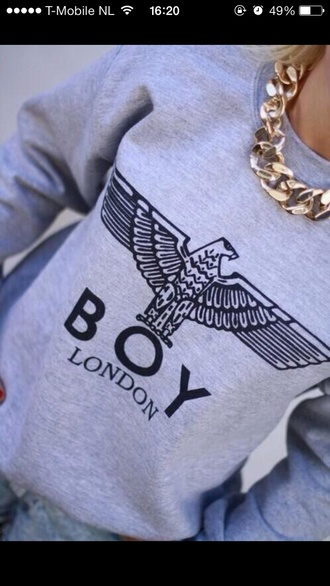 sweater boy london london boy hoodie grey hoodie chanel