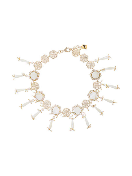 Rosantica women pearl necklace grey metallic jewels