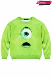 sweater,green,mike,mike wazowski,monsters,monster,monsters inc,monsters university,sweatshirt,minions,baby clothing,yellow