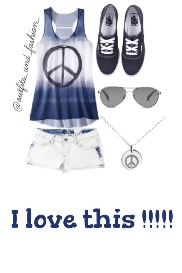 shorts shirt sunglasses jewels