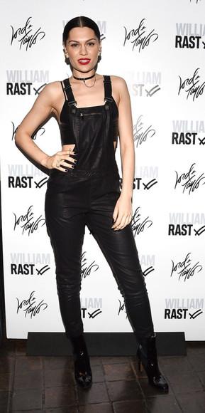 jessie j pants overalls black