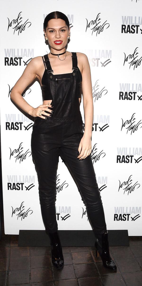 overalls pants jessie j black
