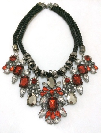 jewels statement necklace red aliexpress
