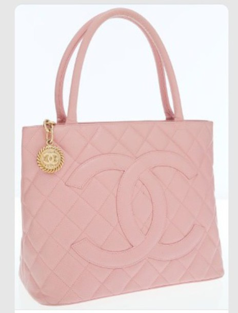 Bag: pink, chanel, chanel, pink bag, pretty, cute, bags and purses ...