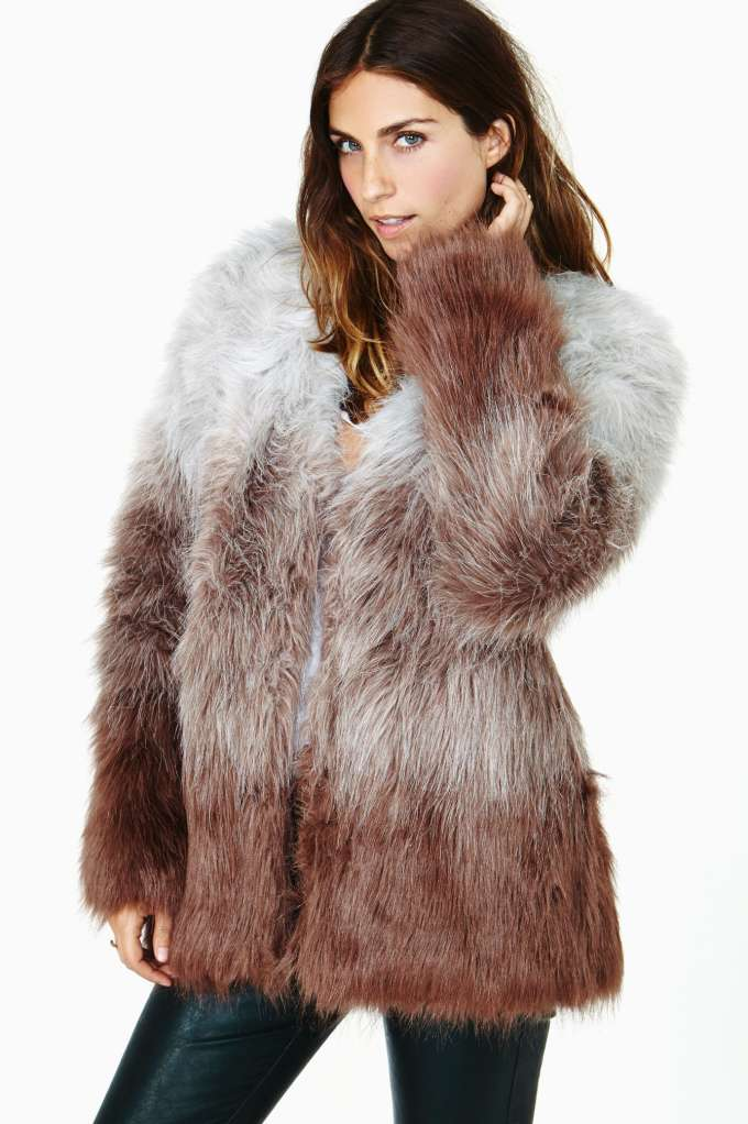 In The Mood Faux Fur Coat in  Clothes Jackets   Coats at Nasty Gal