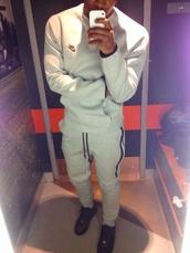 pants,nike,sportswear,menswear,sweater,pullover,jacket,jumpsuit,grey sweatpants,grey sweater