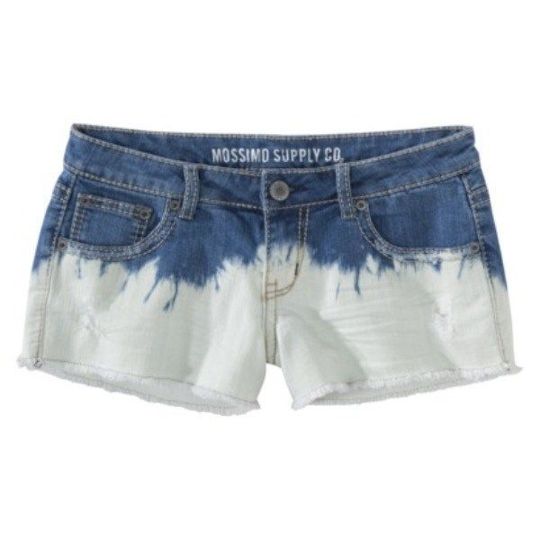 Mossimo Supply Co Juniors DIP Dye Denim Short Size 1 | eBay