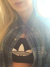 top,crop tops,tank top,t-shirt,shirt,adidas,plaid shirt,flannel,sports bra