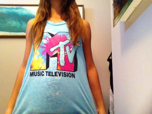 shirt m tv music television cardigan coat
