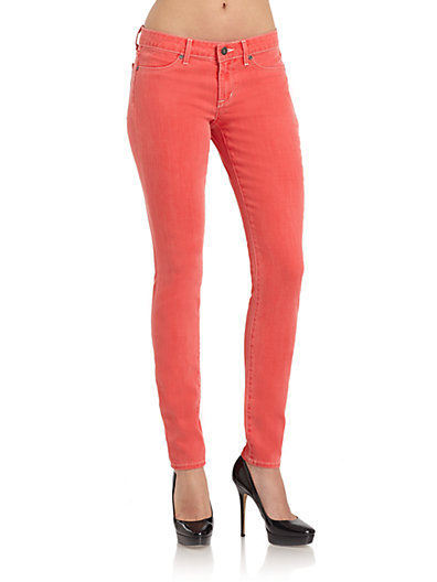 Rich and Skinny - Coral Foam Dye Skinny Jeans - Saks.com