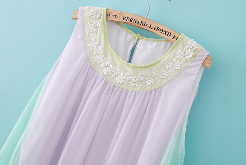 Bohemian Sleeveless Chiffon Dress [DLN0099] - PersunMall.com