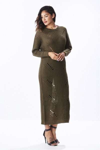 Destruct Maxi Sweater Dress