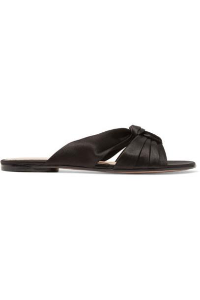 Gianvito Rossi black satin shoes