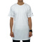Essential tall zip tee (white)