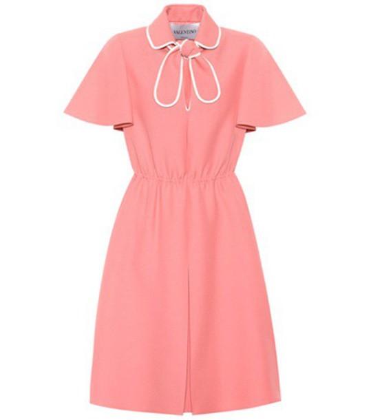 Valentino Wool and silk crêpe dress in pink