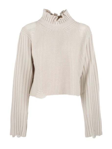 sweater high high neck nude