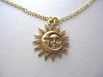 jewels necklace sun moon