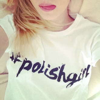 t-shirt yeah bunny polishgirl tee white cute girl